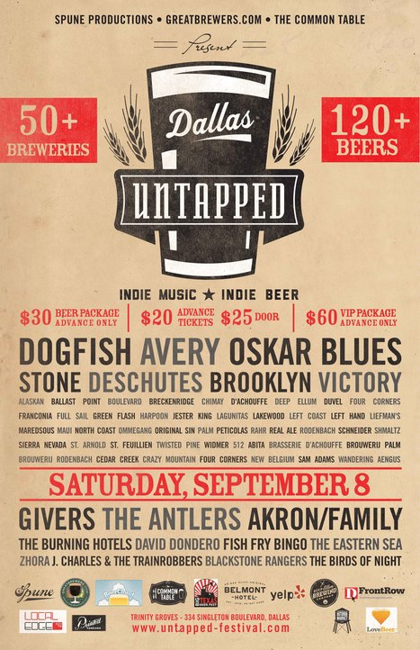 Untapped Festival ~ Saturday! Are you ready for some Brew?!?! Better Hurry! About to sell Out! | aCommunityAffair Oak Cliff | Scoop.it