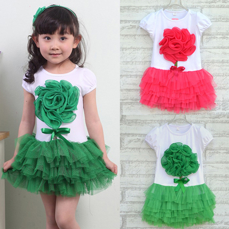 Girls Baby One Piece Lolita Dress 3D Flower Party Tutu Dress Bowknot Costume Dress For Free Shipping-in Dresses from Apparel & Accessories on Aliexpress.com | kid dress | Scoop.it