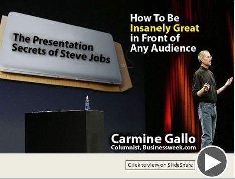 One Stop Learning: The Presentation Secrets of Steve Jobs | One Stop Learning Blog | Scoop.it