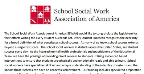 Become More Involved in ESSA Planning in Your District | School Social Work Effectiveness | Scoop.it