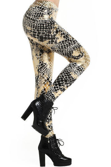 Shimmering Serpent Stockings - These Fashion Leggings from 'Romwe' Will Slither You into Style (TrendHunter.com) | Digital-News on Scoop.it today | Scoop.it