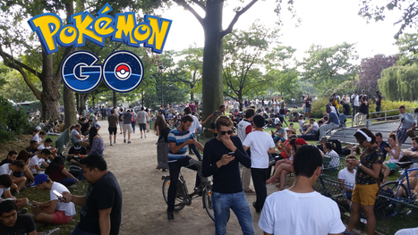 Sortie en France de Pokémon Go : journal de bord d'une intense journée collaborative au Champ de Mars (24/07/2016, Paris) | Sociologie du numérique et Humanité technologique | Scoop.it
