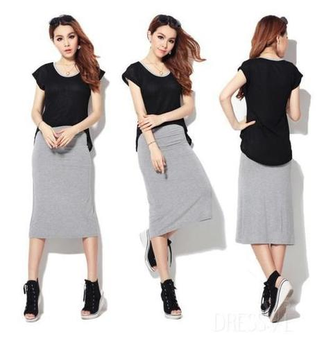 New Fashion Korean Style Fake Two Pieces Dress   Dressve fashion   Scoop.it
