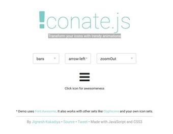 Transformez vos icônes avec des animations en javascript et ccs3 avec iconate.js | Développement Web et sites | Scoop.it