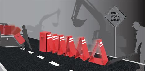 Piece of Cake Traffic Cones | Yanko Design | Traffic Cones | Scoop.it
