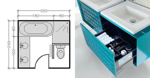 15 plans pour une petite salle de bains (- de 5m²) | La Revue de Technitoit | Scoop.it