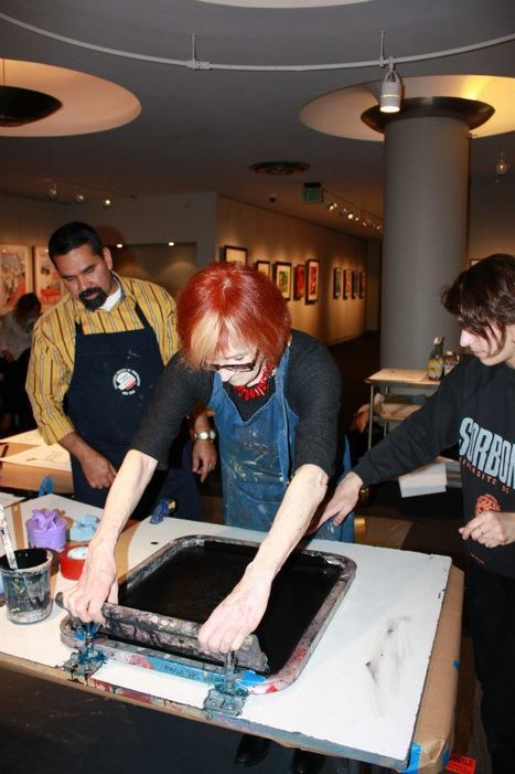 Screen Printing Demo in Thacher Gallery   Thacher Gallery   Scoop.it