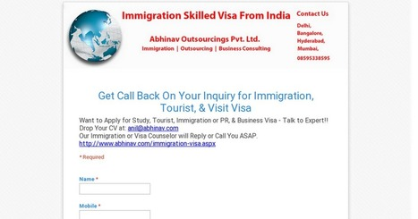 Get Call Back On Your Inquiry for Immigration, Tourist, & Visit Visa | Canadian, Australian Immigration Expert in India | Scoop.it