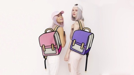 Playful Handbags Create Optical Illusions of Cartoon Drawings | Inspiration: Imagine. See the possibilities. | Scoop.it