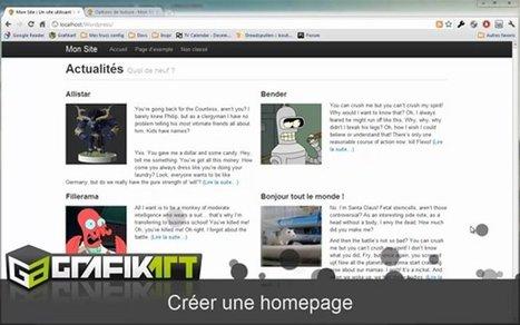 Tutoriel vidéo WordPress : Créer une homepage personnalisée | Ma boîte à outils | Scoop.it