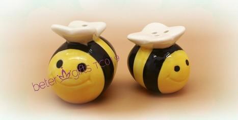 TC019 baby Bee Ceramic Honeybee Salt and Pepper Shakers, Baby Shower Favor Ideas | 純歐式婚禮喜糖盒 倍樂婚品 | Scoop.it