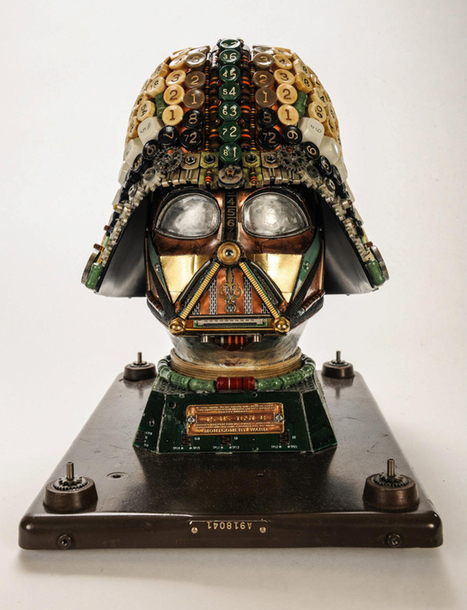 Amazing Darth Vader Bust Created with Upcycled Junk - My Modern Metropolis | The Blog's Revue by OlivierSC | Scoop.it