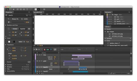 Adobe Edge Animate: Crea contenido animado en HTML5 | El Mundo del Diseño Gráfico | Scoop.it