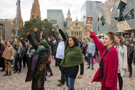 War dance flash mob brings Federation Square to standstill | anti-racism framework | Scoop.it