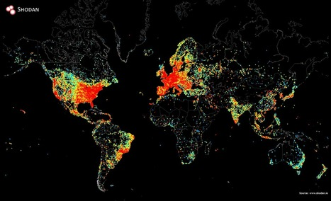 Map shows all the devices in the world connected to the Internet | Lorraine's Interconnections | Scoop.it