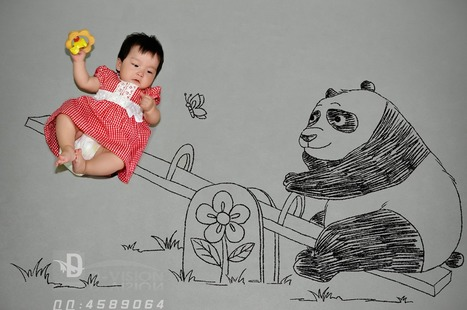 The baby and the panda   Photography   Scoop.it