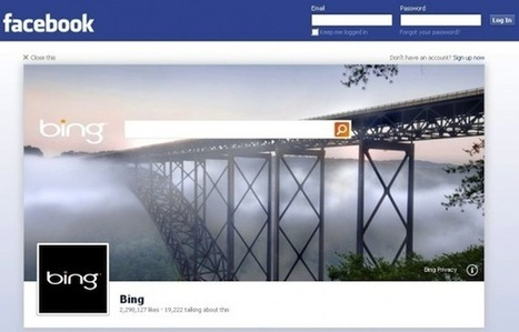 Bing Search First to Test Facebook's New Logout Page Ad | Middays with Becky in DC | Scoop.it