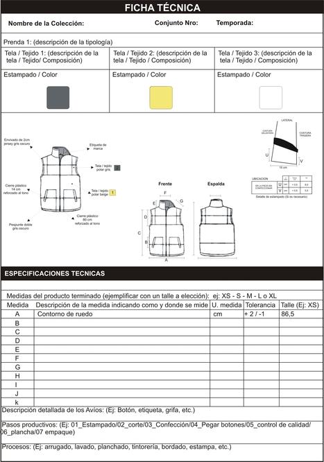 "Modelo completo de ficha técnica | ""Curso #ccfuned: diseño de moda"" | Scoop.it"