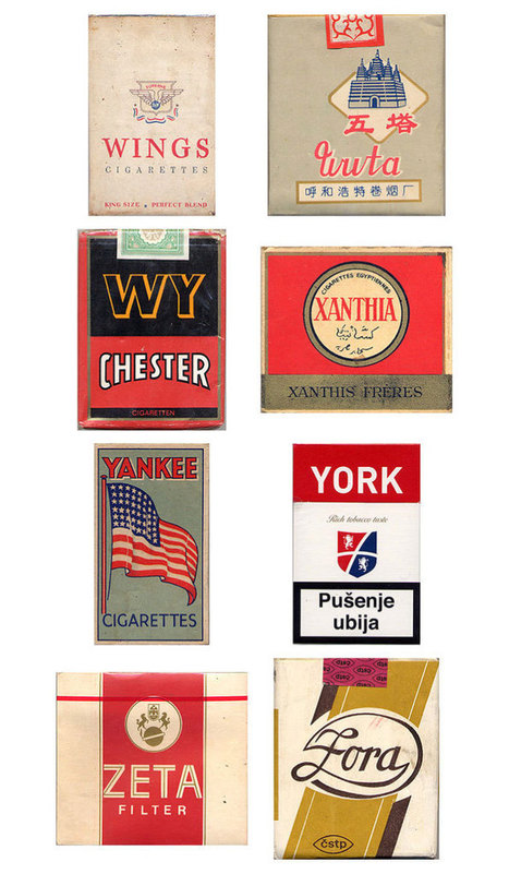 Vintage Cigarette Pack Designs | WebDesignFM | Vintage, Robots, Photos, Pub, Années 50 | Scoop.it