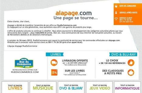 RueDuCommerce ferme Alapage, sa librairie en ligne | BiblioLivre | Scoop.it
