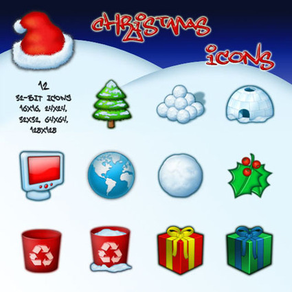Best Free Christmas Resources: Icons, Photoshop Tutorials, Templates, Backgrounds | Digital-News on Scoop.it today | Scoop.it