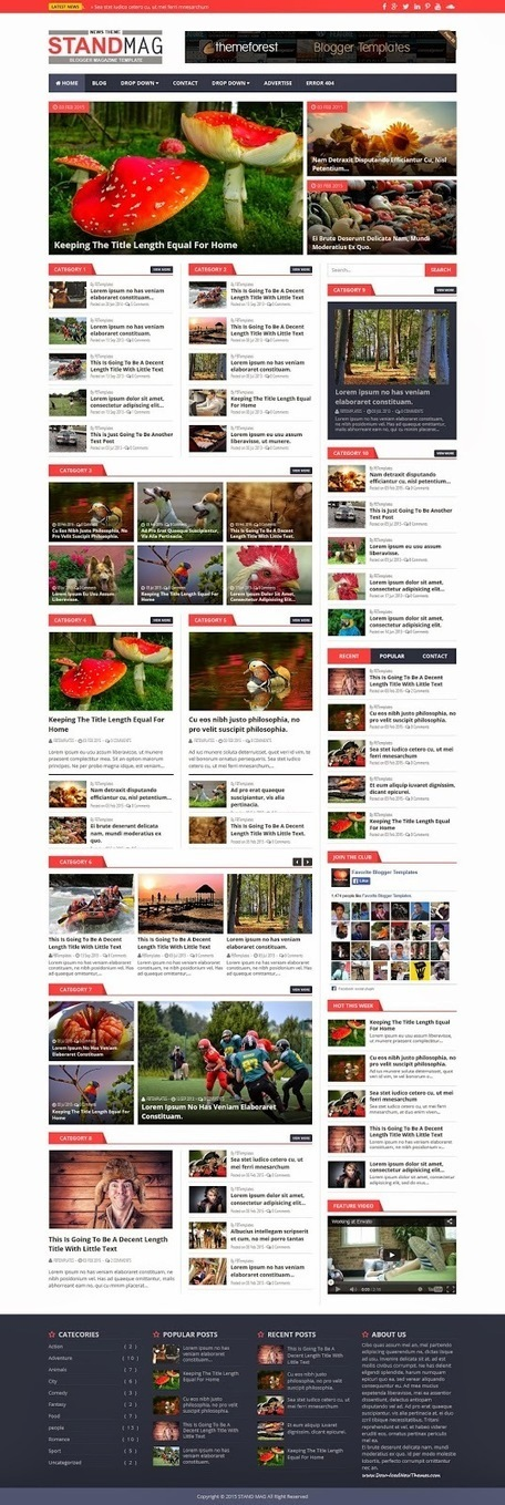 Stand Mag Responsive Blogger Magazine Theme 2015 - Download New Themes | Blogger themes | Scoop.it