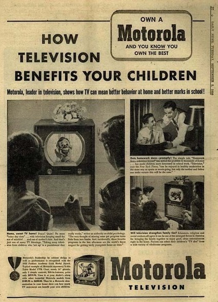 'How Television Benefits Your Children' Ad, 1950 | GenealoNet | Scoop.it