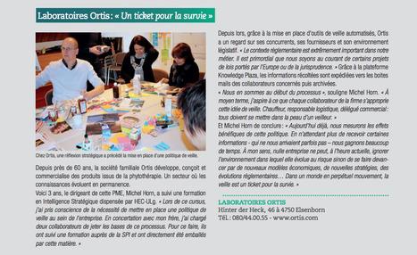 Laboratoires Ortis : « Un ticket pour la survie » (Michel Horn) CCI Mag, Mai 2016 | Alumni HEC Liège | Scoop.it