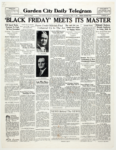Day 2, Primary source #2: Black Friday meets its master - Kansas Memory | The Dust Bowl in the 1030's | Scoop.it