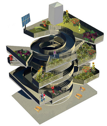 Transforming a derelict city building into vertical gardens for nearby residents | Kaid Benfield's Blog | Switchboard, from NRDC | Sustainable Futures | Scoop.it