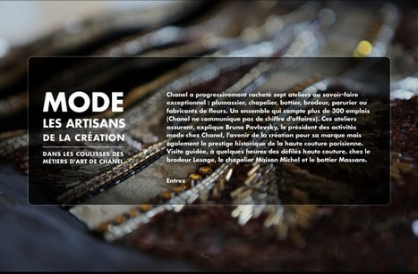 Les artisans de la création, dans les coulisses des métiers d'art de Chanel | LeMonde.fr | L'actualité du webdocumentaire | Scoop.it