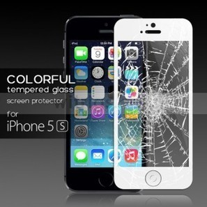 Tempered Glass Protective Film with Home Button Sticker for Apple iPhone 5S White - Witrigs.com | Do iphone 5s need screen protectors | Scoop.it