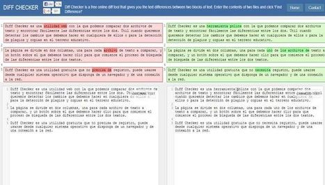Diff Checker, herramienta online para comparar dos archivos de texto | Technology and language learning | Scoop.it