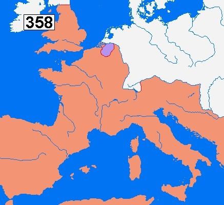 "The Frankish kingdom | ""Tribus Germánicas"" 