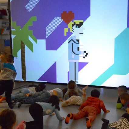 Kids in Malmö going wild to Game Over, a PETSCII-fuelled theater... | ASCII Art | Scoop.it