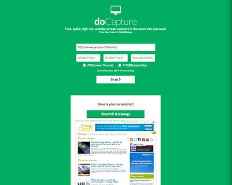 DoCapture : un outil pour faire des captures écran de pages web sans effort | Dev-web2 | Scoop.it