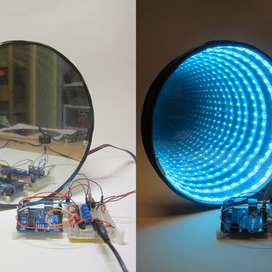 Arduino-controlled RGB LED Infinity Mirror - Instructables   arduino   Scoop.it