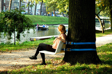 Tree Bench: A Mobile Sitting Unit For Urban Parks | The Nomad | Scoop.it