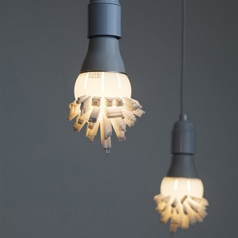 3D Printed LED Light Bulbs Topped with a Cityscape | LED News | Scoop.it
