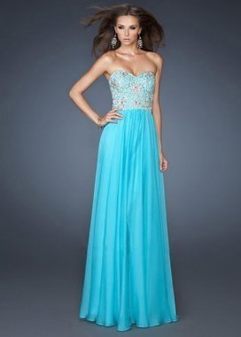 Sparkly Blue Long Sequin Bodice La Femme 19022 Prom Dress [La Femme 19022] - $190.00 : www.2014dresstrends.com | long prom dresses | Scoop.it