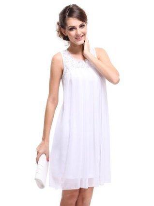 Ever Pretty Rhinestones Round Neck Chiffon Casual Dress/ Plus Size Summer Dress 03490 | Summer Dresses | Scoop.it
