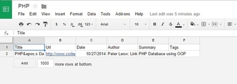 How to  Annotate  and Save links into a Google sheet using chrome's extension citable   Time to Learn   Scoop.it