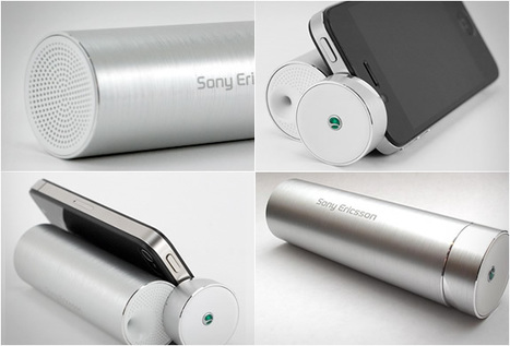 Sony Ericsson little portable speaker stand | What Surrounds You | Scoop.it