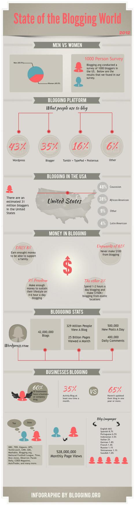 Blogging Statistics, Facts and Figures In 2012 (Infographic) | Content Development | Scoop.it