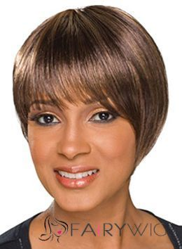 Delicate Short Straight Brown African American Wigs for Women 10 Inch : fairywigs.com | African American Wigs | Scoop.it