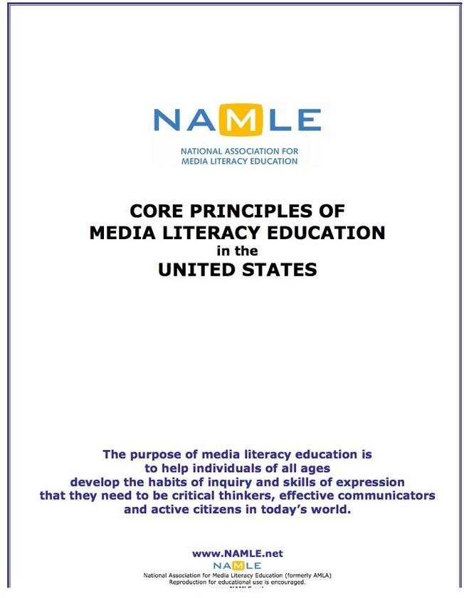 Los Principios Básicos de Educación y Alfabetización Mediáticas Tecnología ~ Educativa y Aprendizaje Móvil