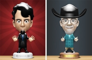 Daily iPhone App: Bobbleshop lets you create and share bobbleheads of your friends | APPY HOUR | Scoop.it