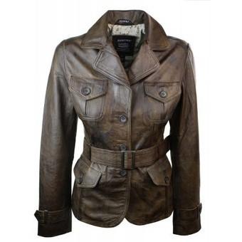 Ladies Women Blazer Smart leather Jacket Vintage Brown | Womens Clothing | Scoop.it