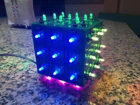 LED Rubik's Cube With Arduino | Arduino, Netduino, Rasperry Pi! | Scoop.it
