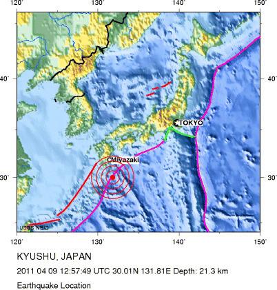 Un tremblement de terre de 6.1 frappe le sud-ouest du Japon | Japan Tsunami | Scoop.it